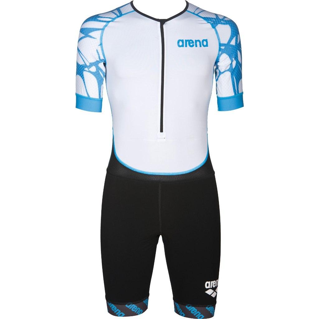 arena Trisuit ST Aero Front Zip 2A951 - black/white/aqua blue