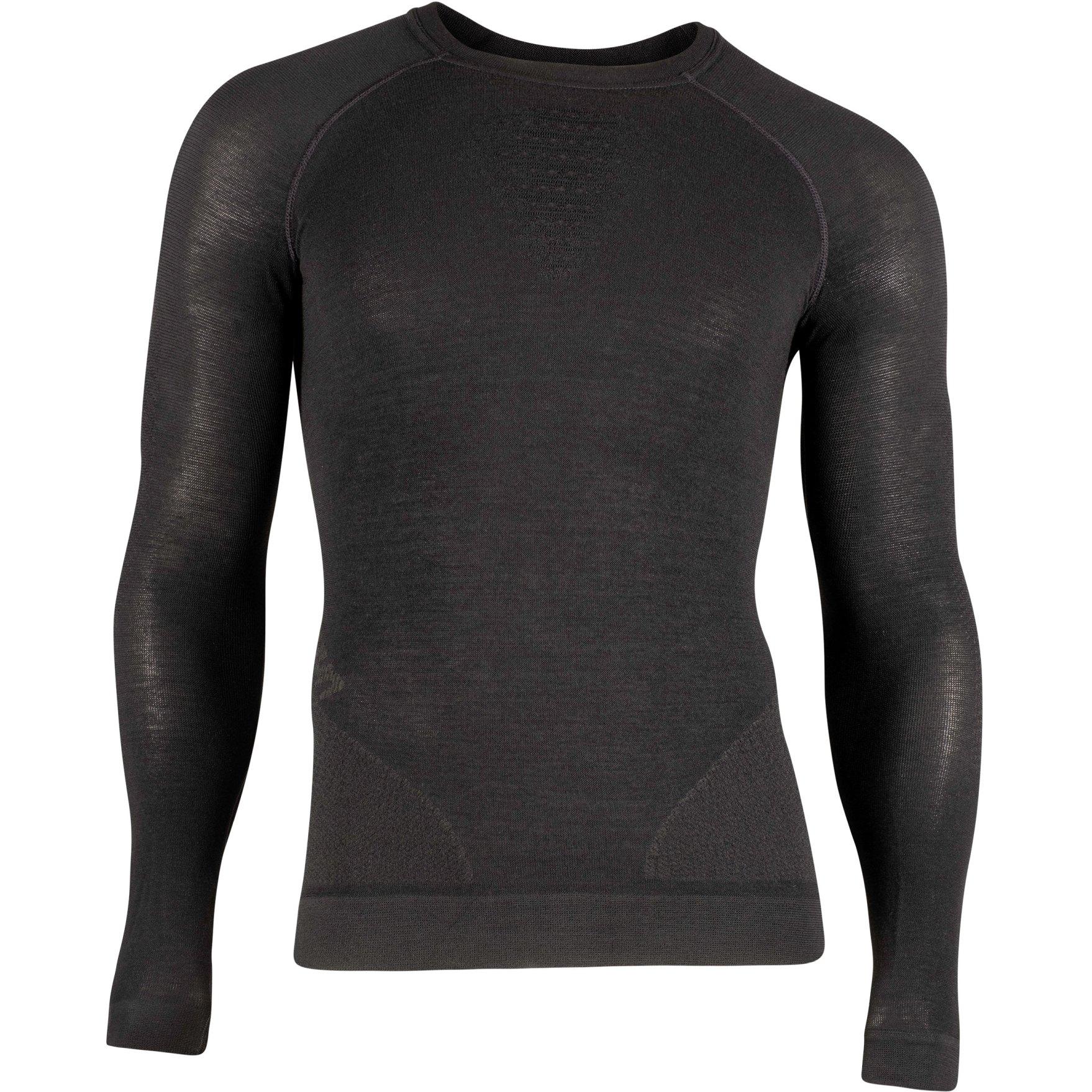 UYN Fusyon Herren Cashmere UW Langärmeliges Shirt - Black/Black