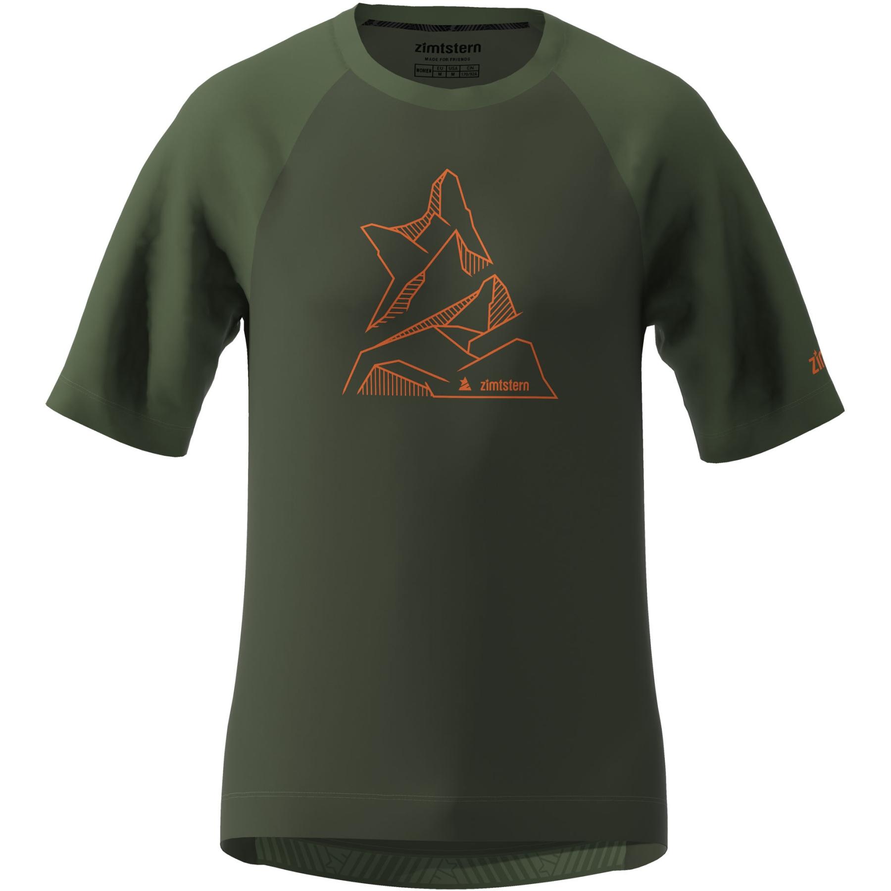 Zimtstern PureFlowz Kurzarm-Shirt - forest night/bronze green