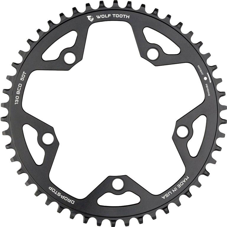 Bild von Wolf Tooth Single Road/Cyclocross Flattop Kettenblatt 130mm - Drop Stop - schwarz