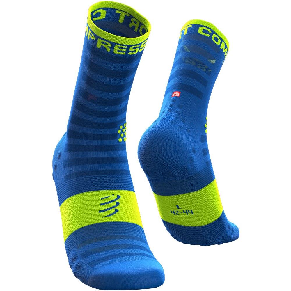 Compressport Pro Racing Compression Socks v3.0 Ultralight Run High Cut - fluo blue