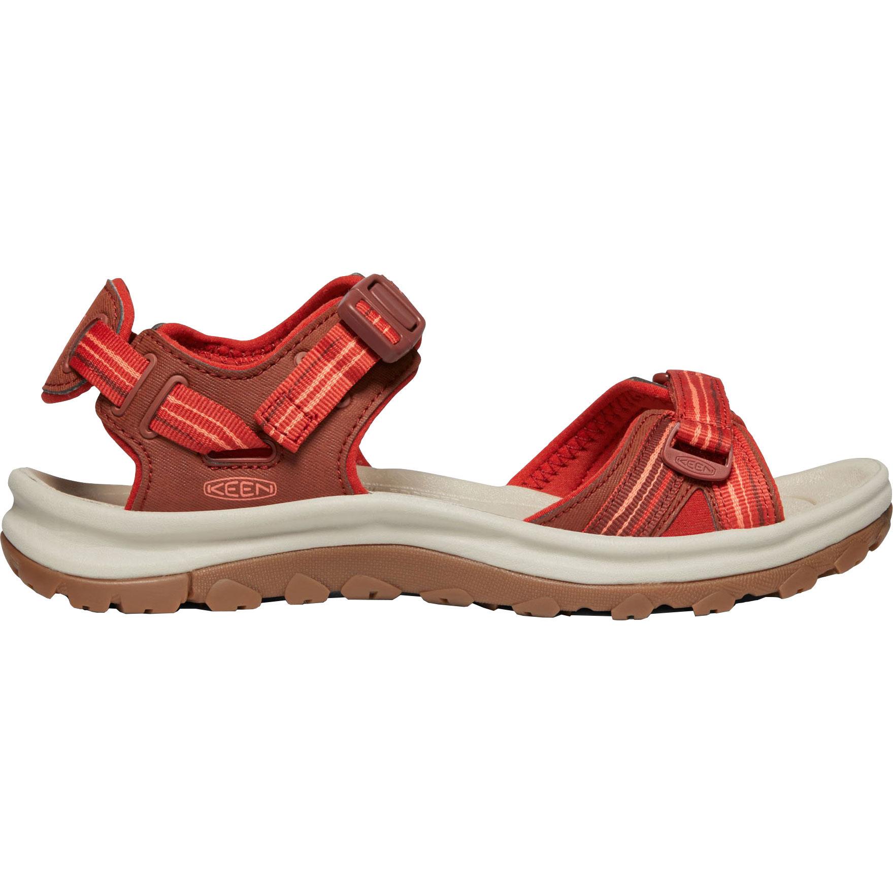 KEEN Terradora II Open Toe Damen-Sandale - Dark Red / Coral