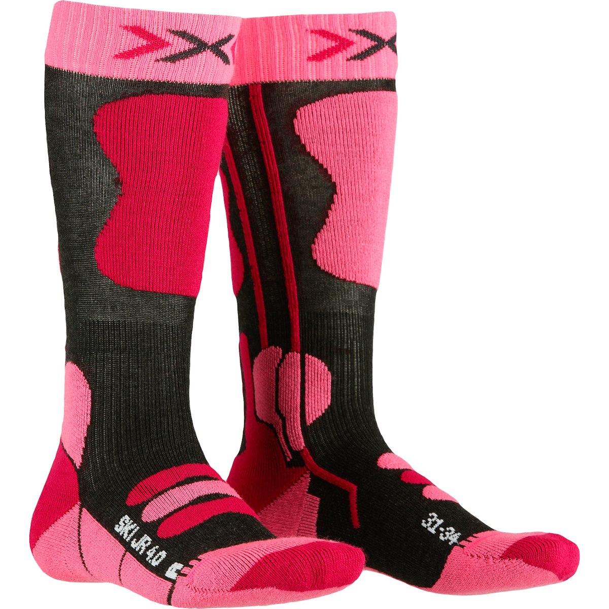 Bild von X-Socks Ski Junior 4.0 Kindersocken - anthracite melange/fluo pink