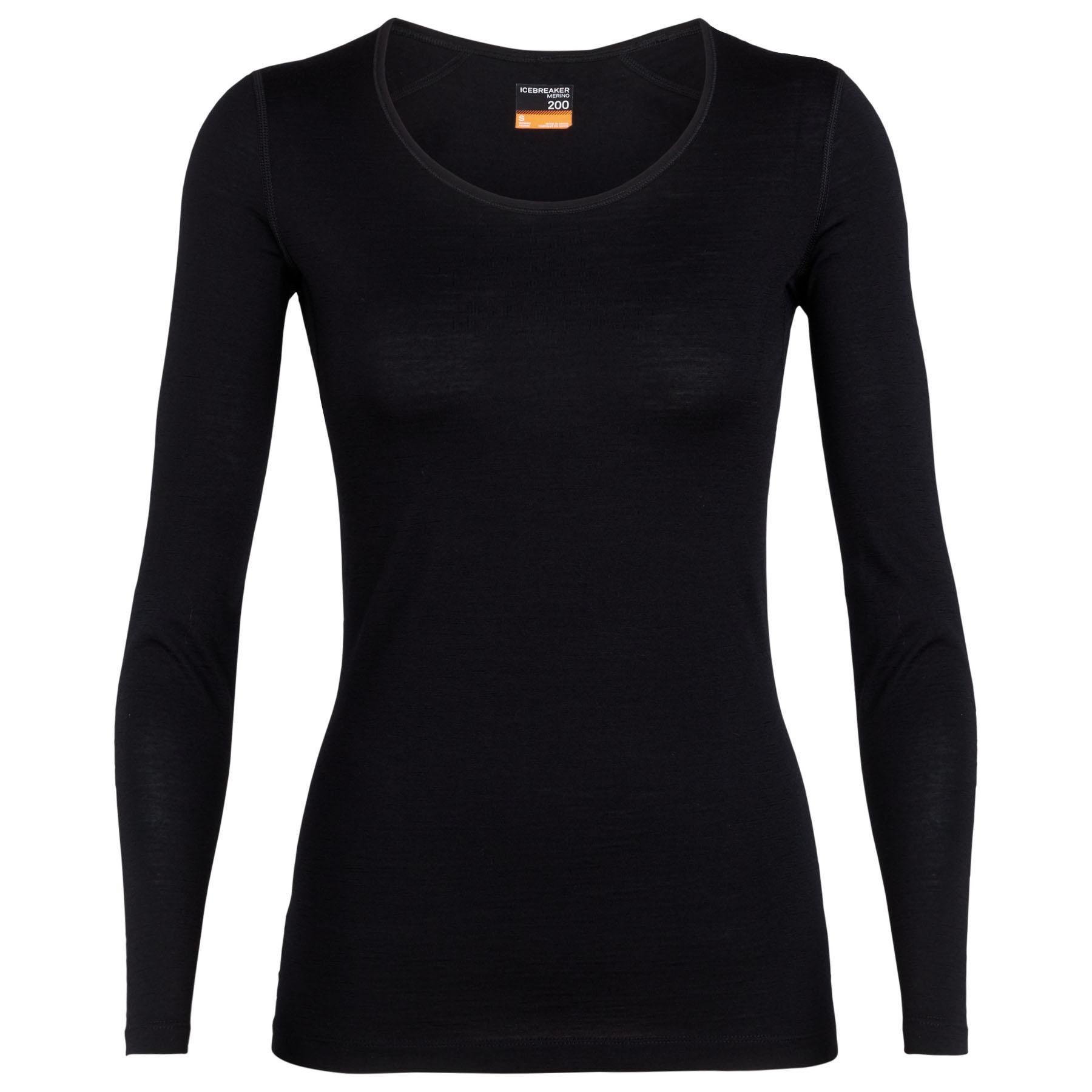 Produktbild von Icebreaker 200 Oasis Scoop Damen Langarmshirt - Black