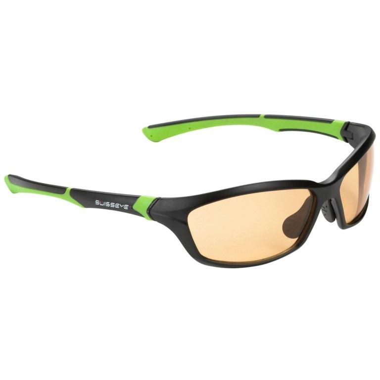 Swiss Eye Drift Black Matt / Green - Photochromic Orange-Smoke Brille 12072