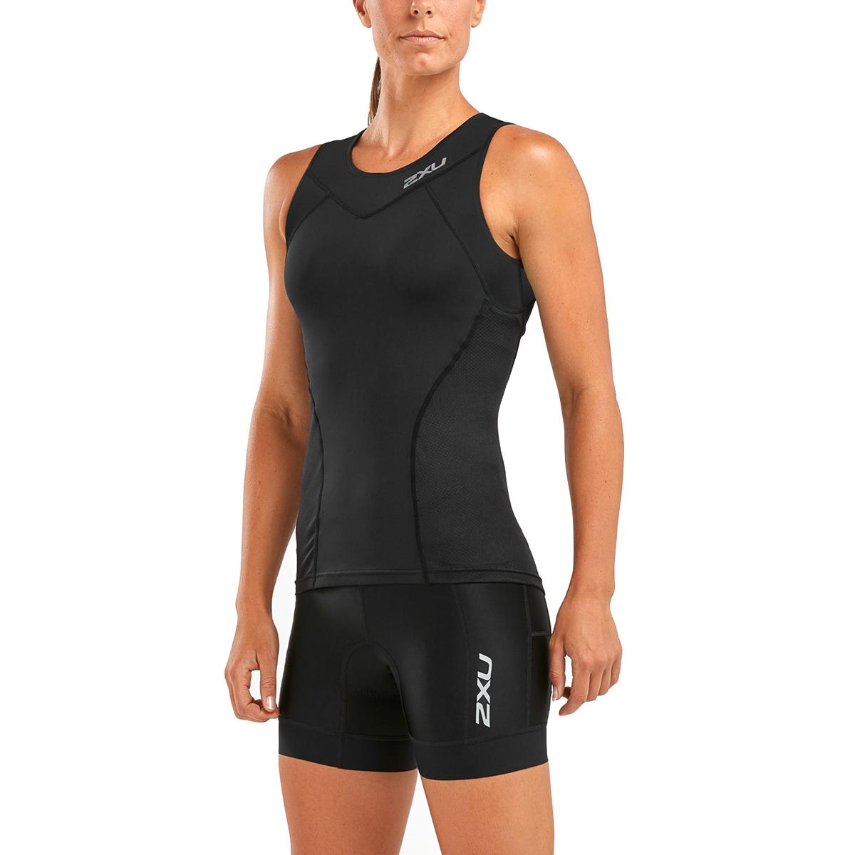 Imagen de 2XU Active Triatlón Camiseta para mujer - black/sunset ombre