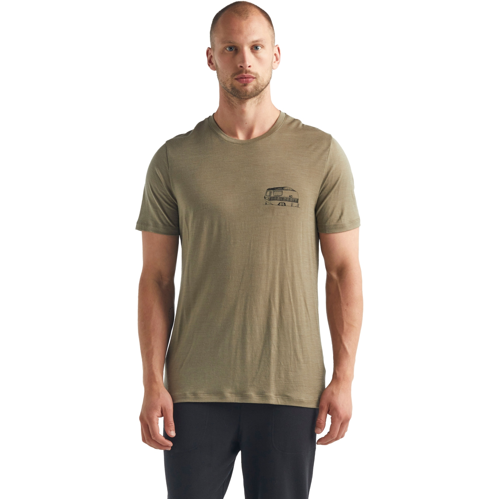 Bild von Icebreaker Tech Lite Crewe Caravan Life Herren T-Shirt - Flint