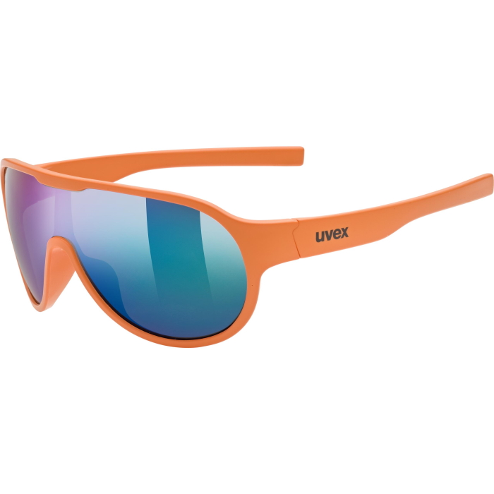 Uvex sportstyle 512 Kids Glasses - orange mat/mirror green