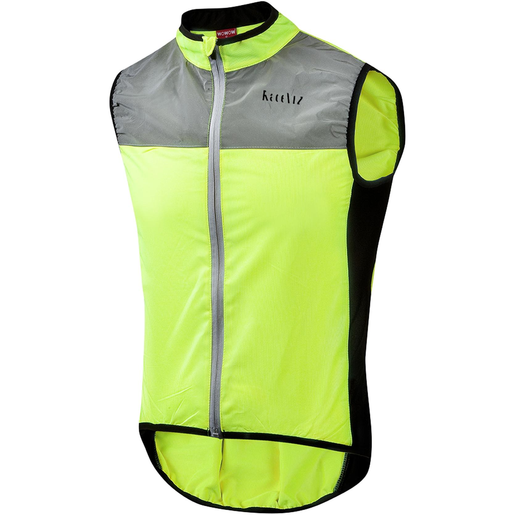 WOWOW Dark Jacket 1.1 Sport-Fahrradweste - gelb / grau