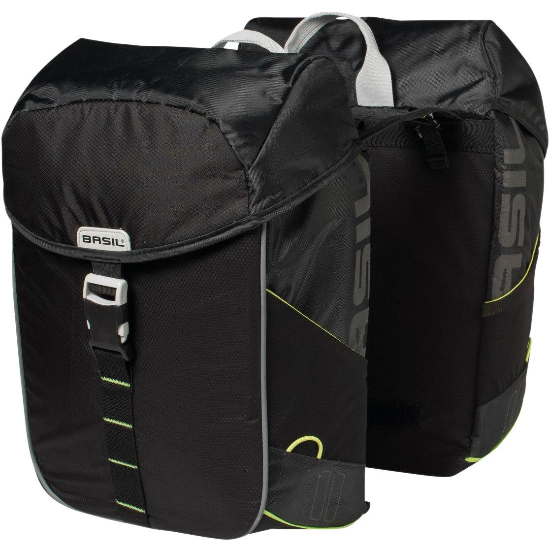 Image of Basil Miles Double Bike Bag - black