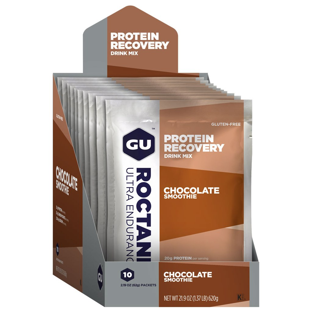 Image of GU Roctane Recovery Protein Drink Mix (Chocolate Smoothie) - Beverage Powder - 10x62g