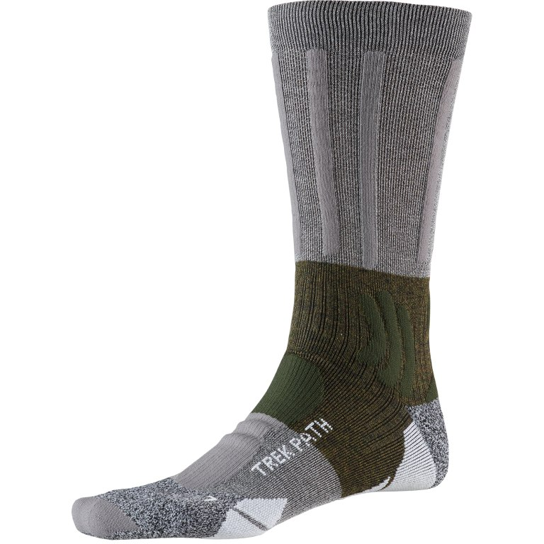 X-Socks Trek Path Socken - dolomite grey/forest green
