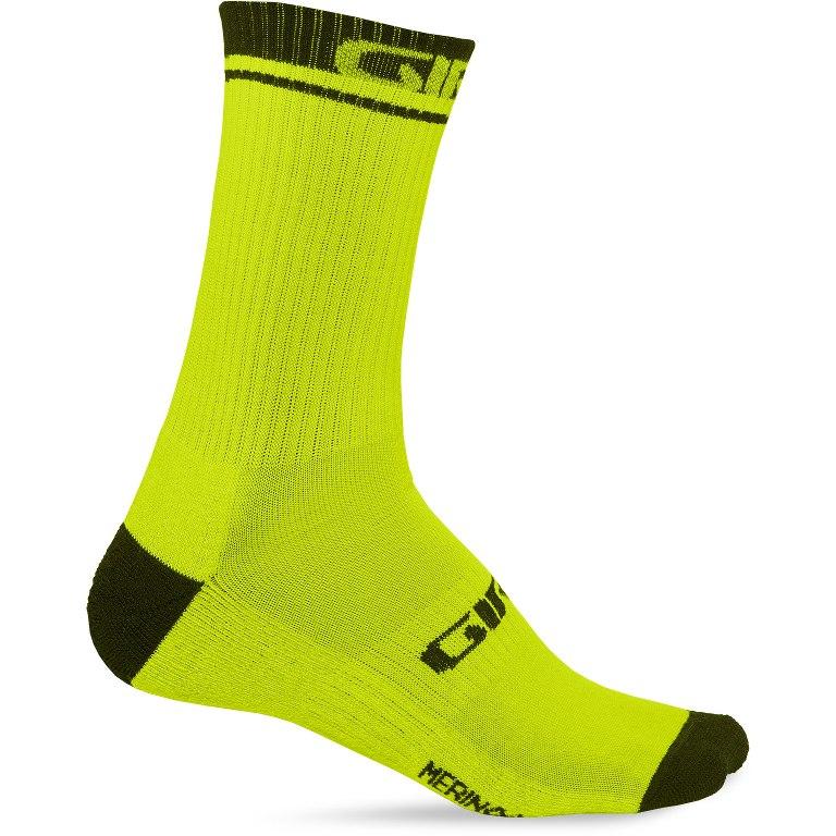 Giro Winter Merino Wool Socks 2020 - lime/black