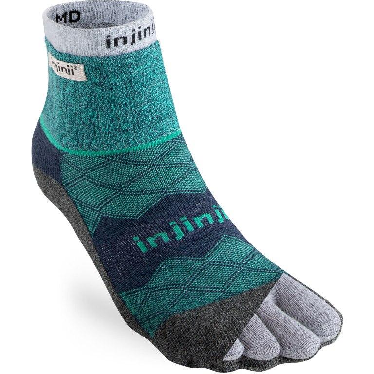 Injinji Men's Liner + Runner Mini-Crew Socks - everglade