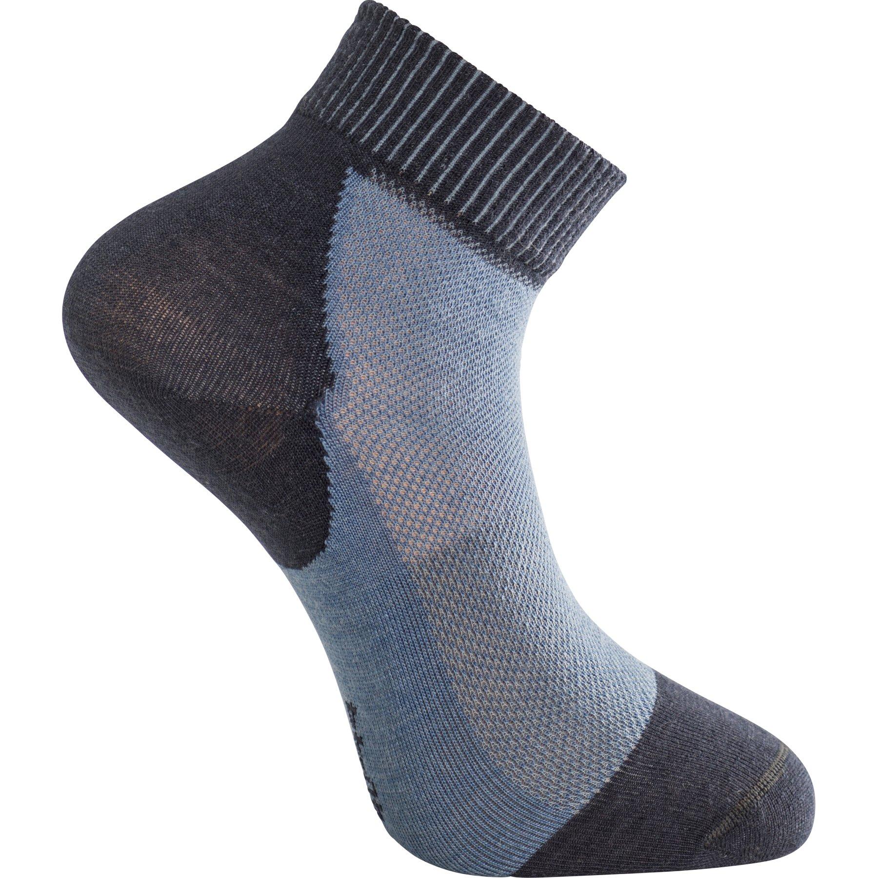Woolpower Skilled Liner Short Socken - dark navy-nordic blue
