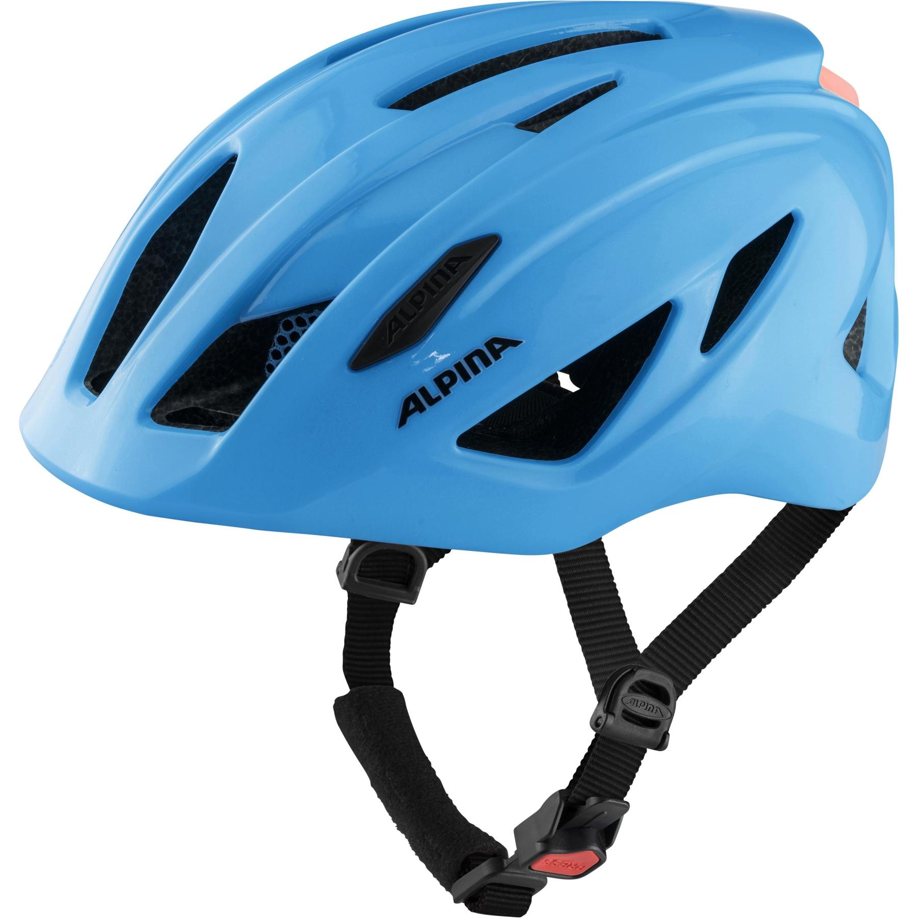 Alpina Pico Flash Kids Helmet - neon blue gloss