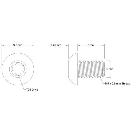 Bild von Wolf Tooth Ersatzschrauben für SRAM Direct Mount Kettenblatt (3 Stück)