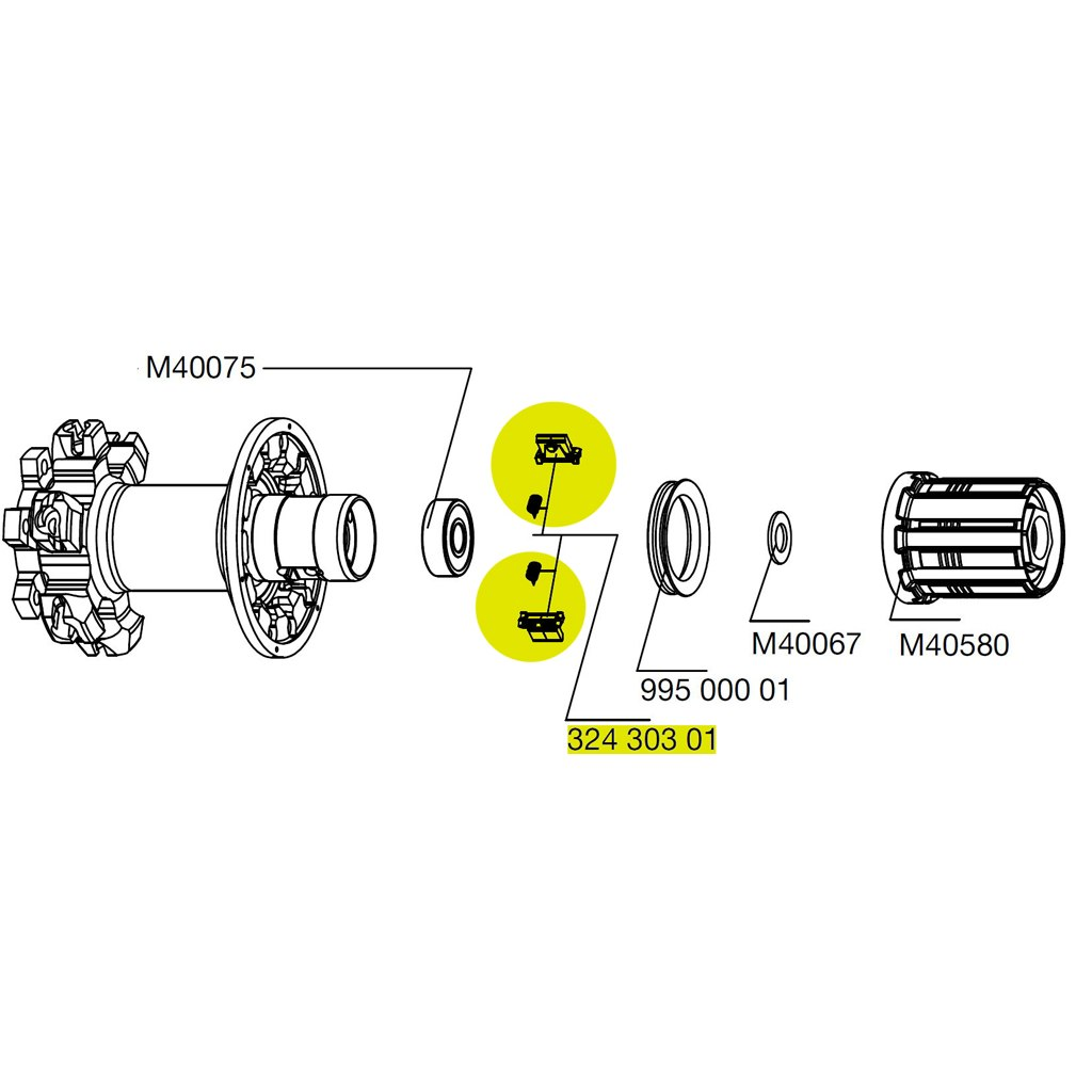Image of Mavic Pawls + Springs for FTS X - 32430301