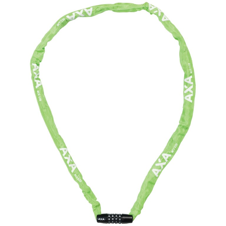 AXA Rigid RCC 120/3.5 Code Chain Lock - green