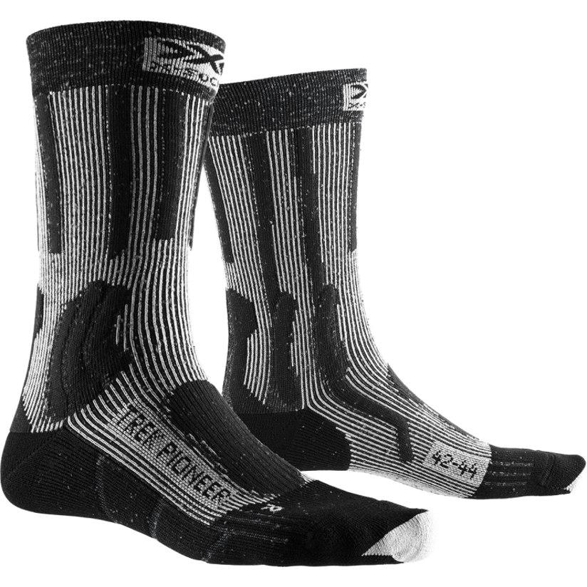 X-Socks Trek Pioneer Socken - opal black/flocculus white