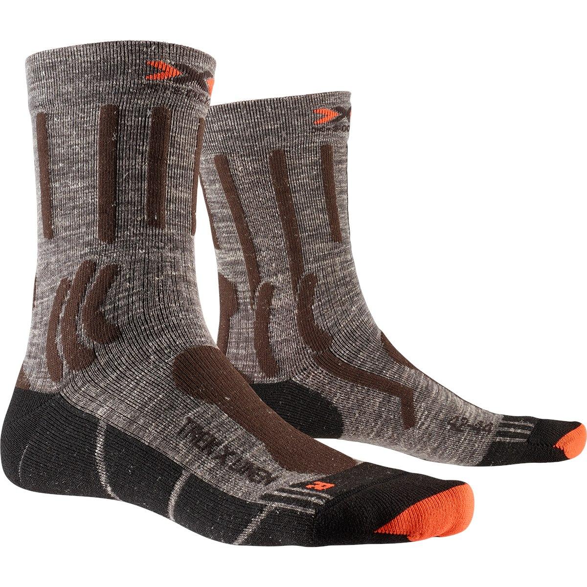 Bild von X-Socks Trek X Linen Socken - suede melange/x-orange/black