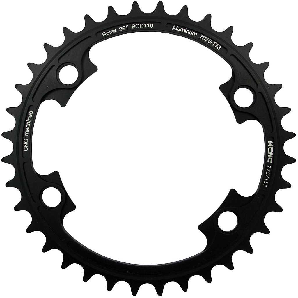 Image of KCNC Rotex Chainring 110mm asymetric for 11-speed Shimano - black
