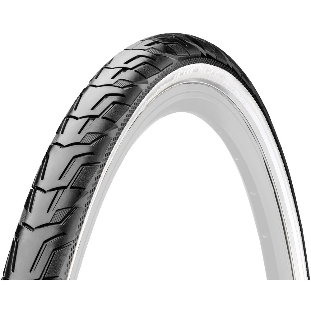 Image of Continental Ride City Wire Bead Tire - 28x1.6 Inches - black/white Reflex