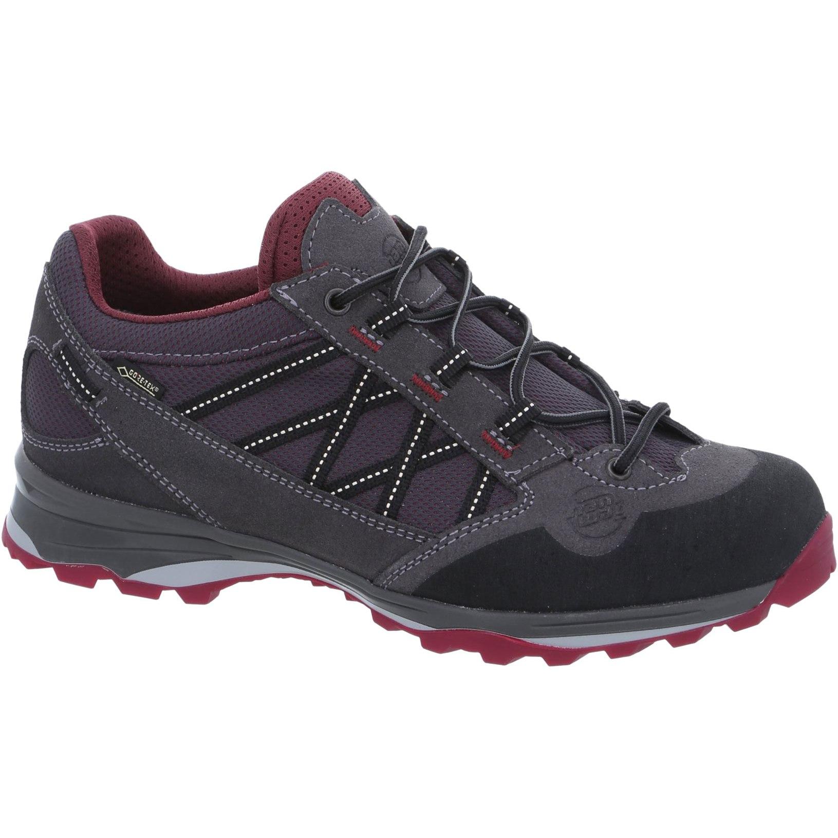 Hanwag Belorado II Low Lady GTX Shoe - Asphalt/Dark Garnet