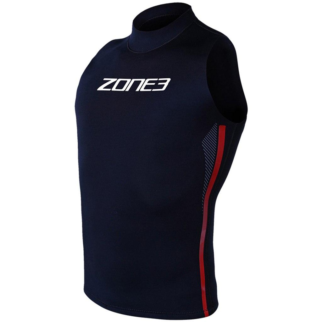 Image of Zone3 Neoprene Warm Vest - black/red/white