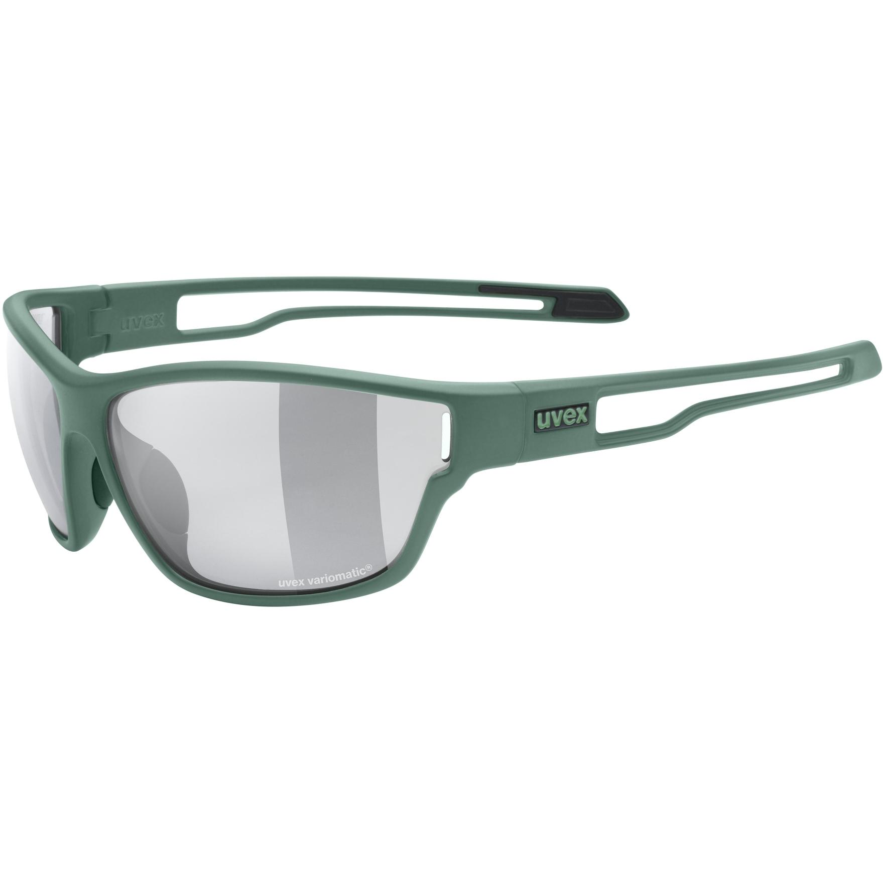 Uvex sportstyle 806 V Glasses - moss green mat/variomatic smoke