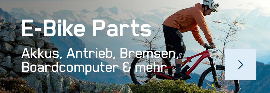 Top-Auswahl an E-Bike-Teilen für E-MTBs, E-Trekkingbikes, E-Rennrädern und mehr!