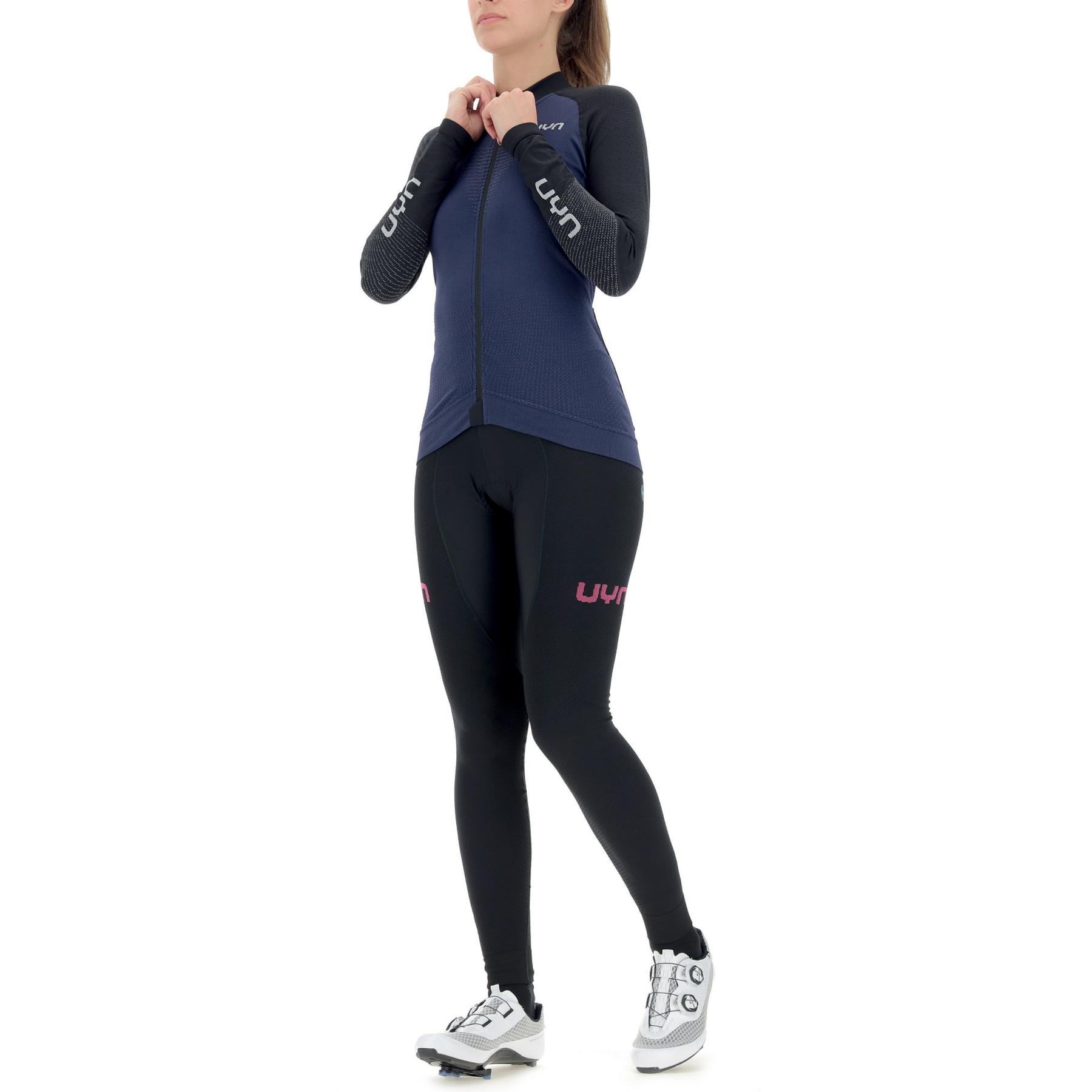Image of UYN Biking Granfondo Long Sleeve Jersey Women - Peacot/Blackboard