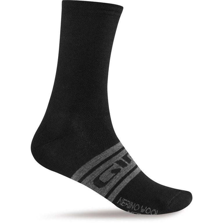 Giro Seasonal Merino Wool Socken - black/charcoal clean