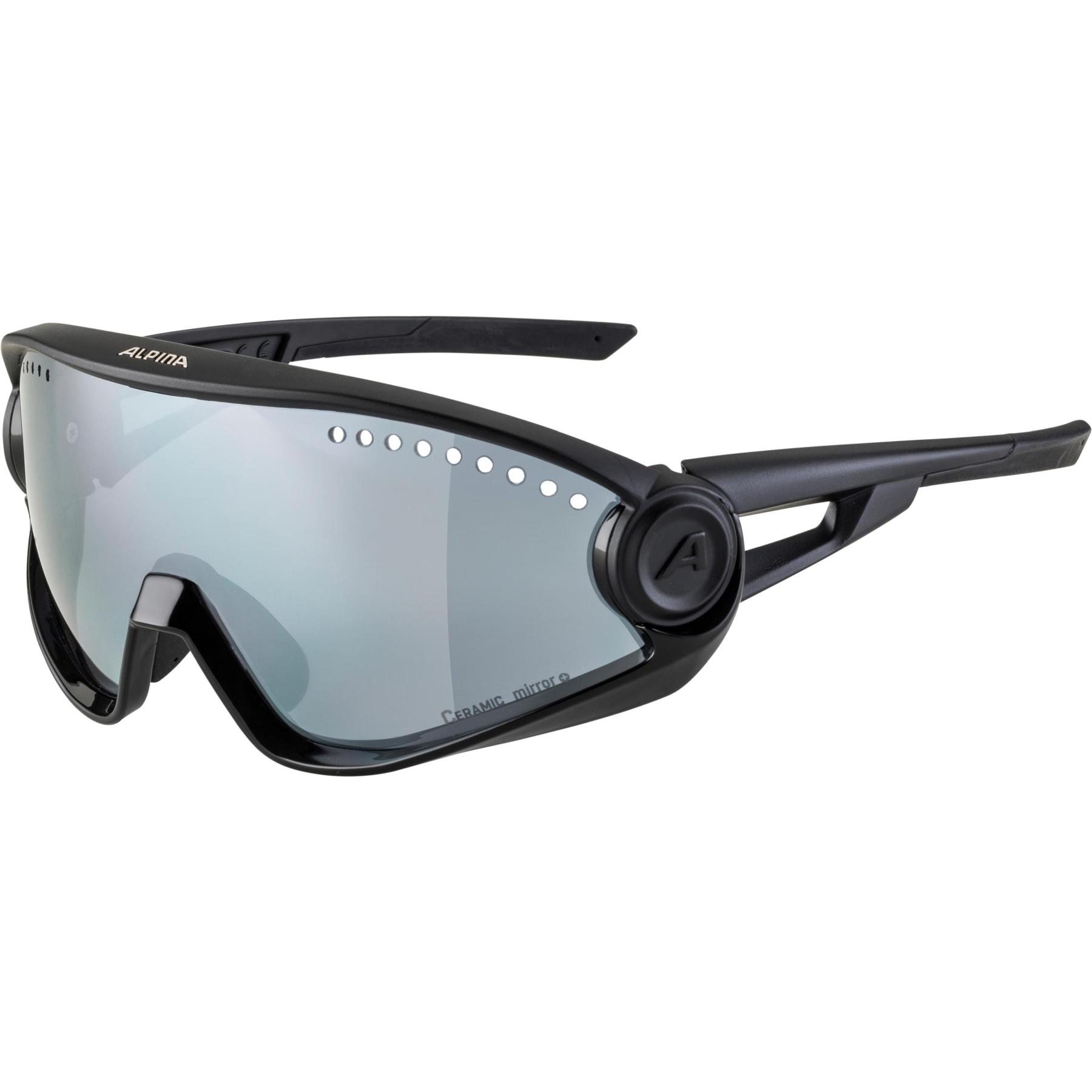 Alpina 5W1NG CM+ Glasses - all black / black mirror