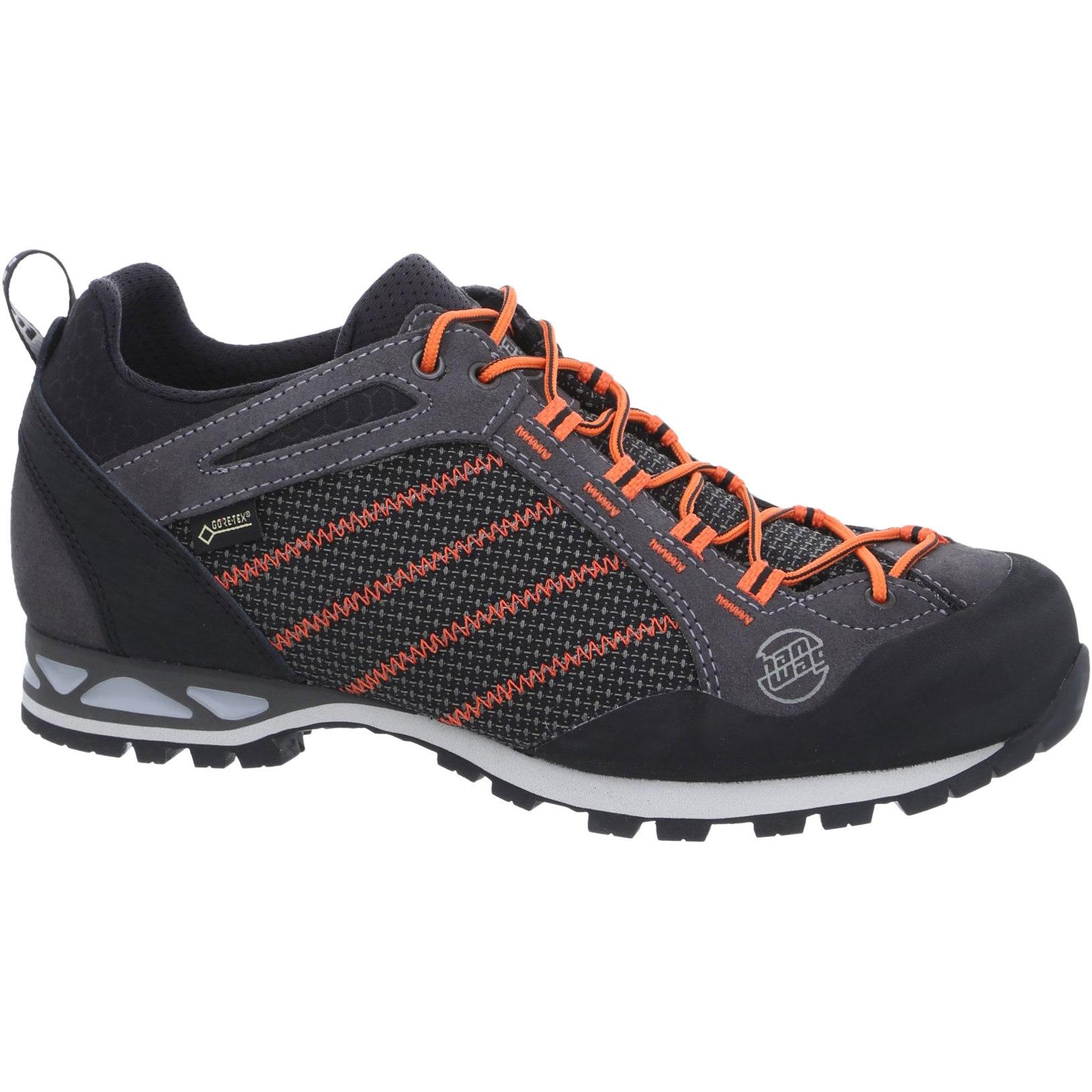 Hanwag Makra Low GTX Shoe - Asphalt/Orange