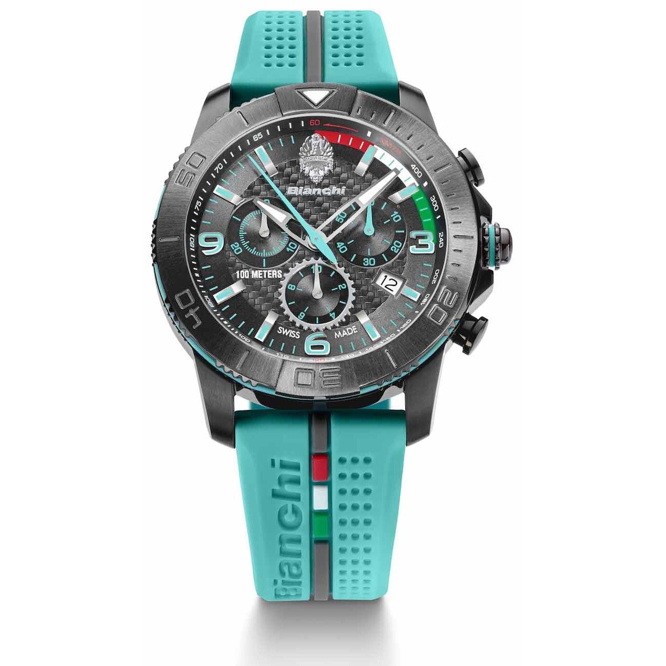 Bianchi Chronograph Wrist Watch - Celeste
