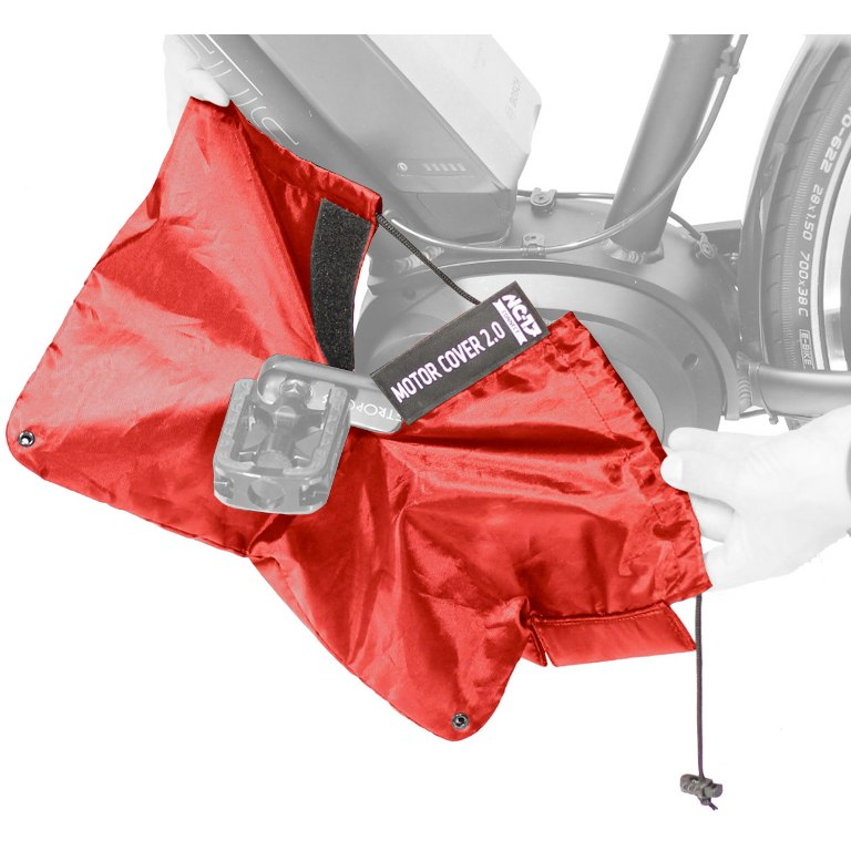 Image of NC-17 Connect Motor Cover 2.0 - Protection Cover for E-Bike mid engines - red