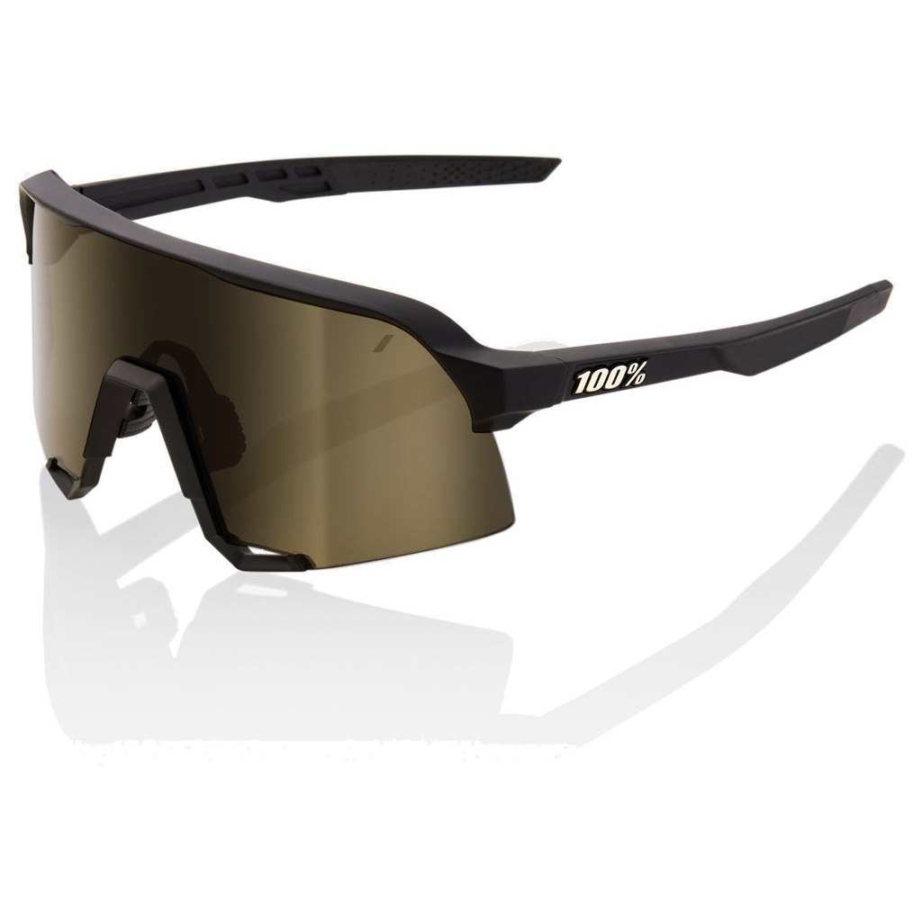 Foto de 100% S3 Mirror Lens Gafas - Soft Tact Black/Soft Gold + Clear