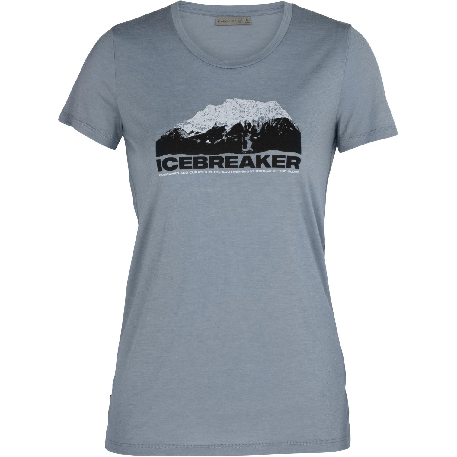 Produktbild von Icebreaker Tech Low Lite Crewe IB Mountain Damen T-Shirt - Gravel