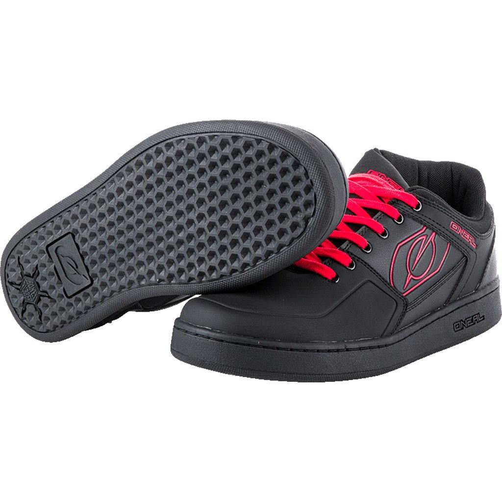 O'Neal Pinned Pro Flat Pedal Shoe - red
