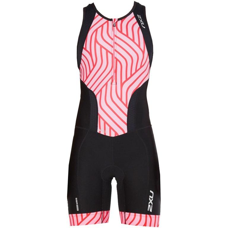 Imagen de 2XU Women's Perform Front Zip Trisuit WT4855d - black/rose pink tide
