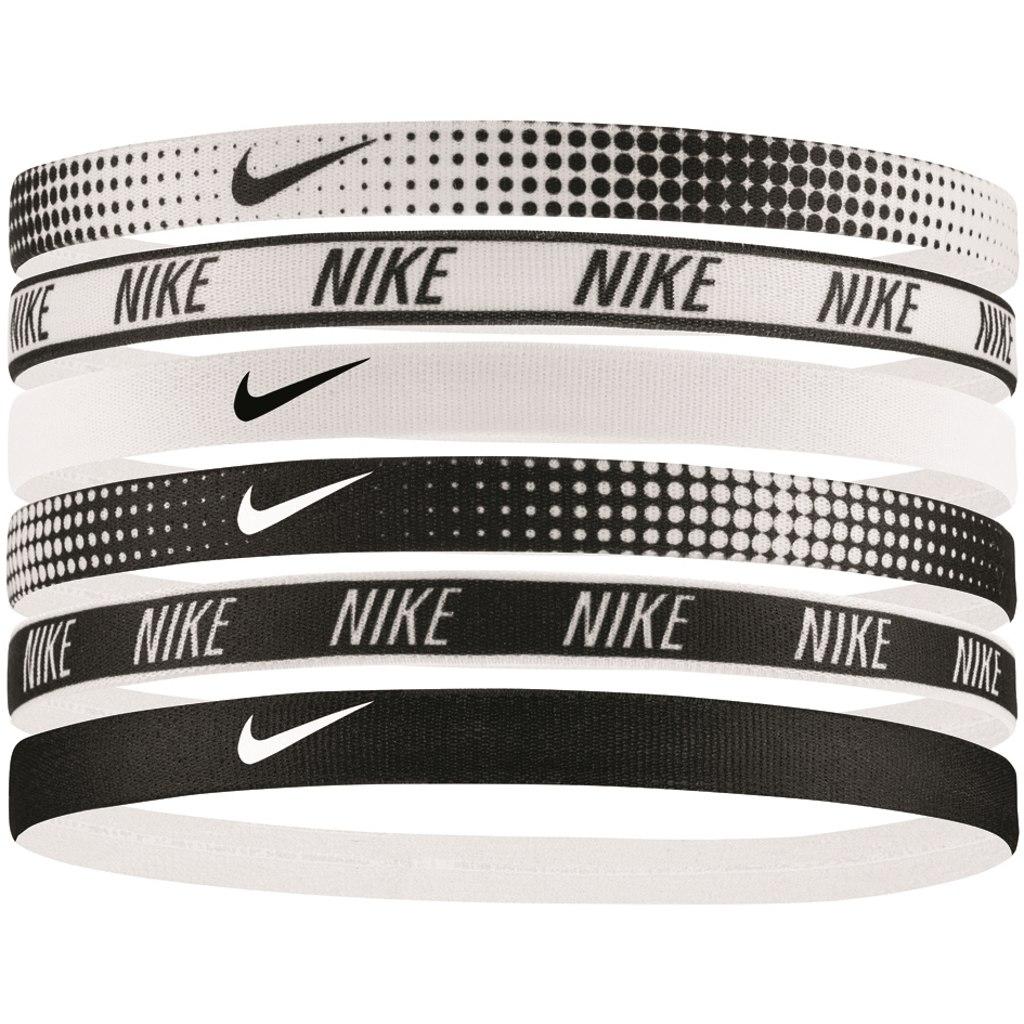 Nike Printed Hairbands 6Pack - white/white/black 964