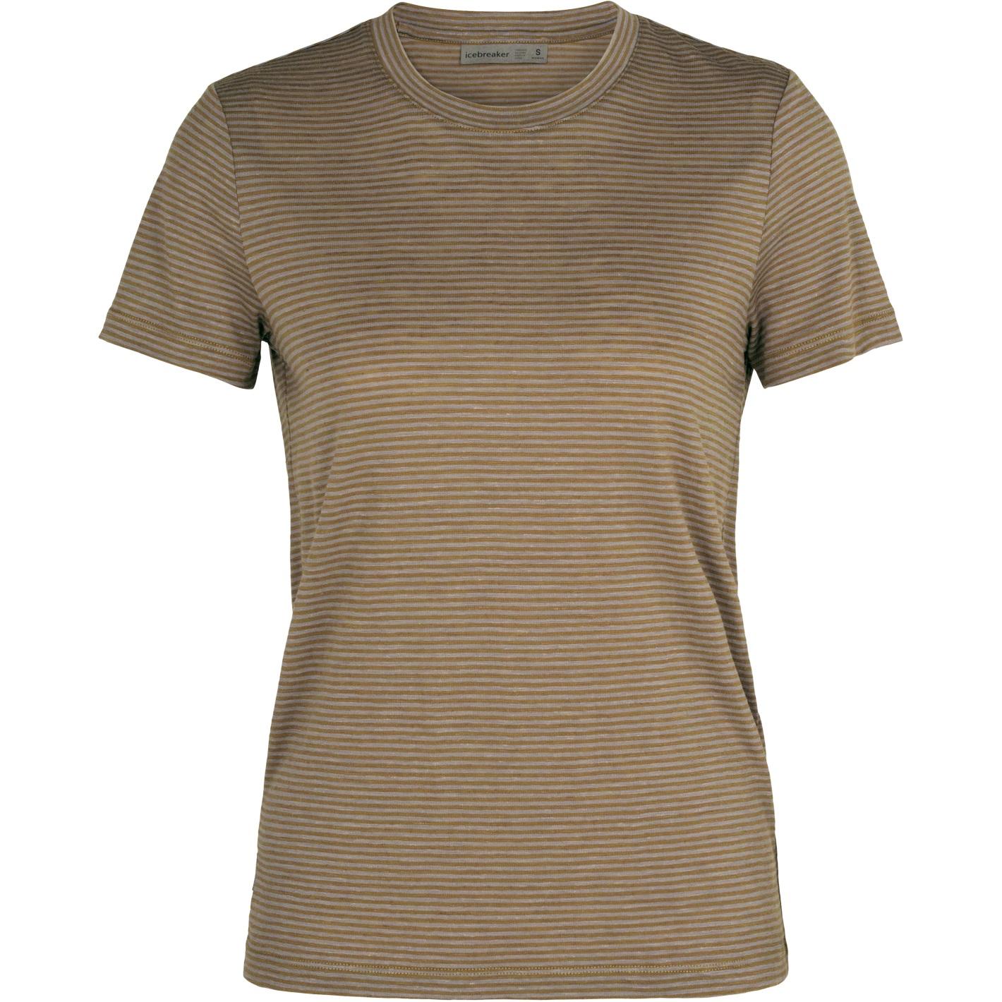 Produktbild von Icebreaker Dowlas Crewe Stripe Damen T-Shirt - Flint