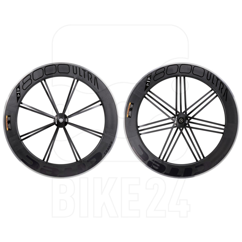 CITEC 8000 SL / 80 Ultra 28 Inch Wheelset - Clincher - FW: 9x100mm QR | RW: 10x130mm QR - black