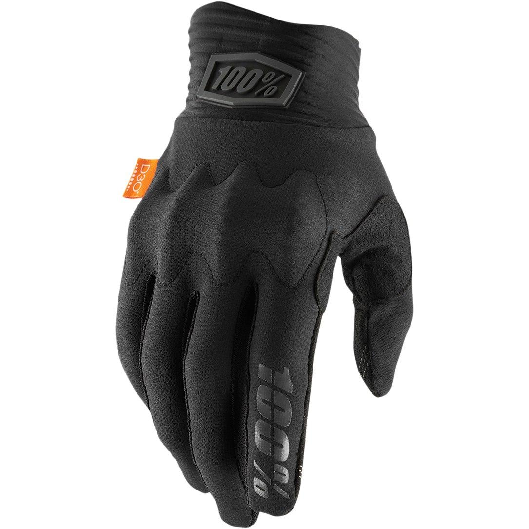 100% Cognito D30 Glove - Black/Charcoal