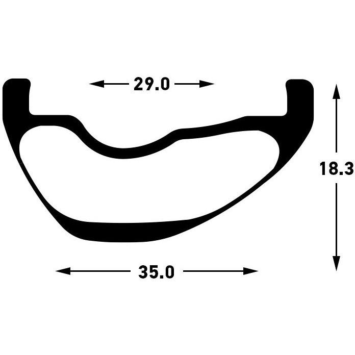 Image of Stan's NoTubes ZTR Flow CB7 29 Inch MTB Carbon Rim - black