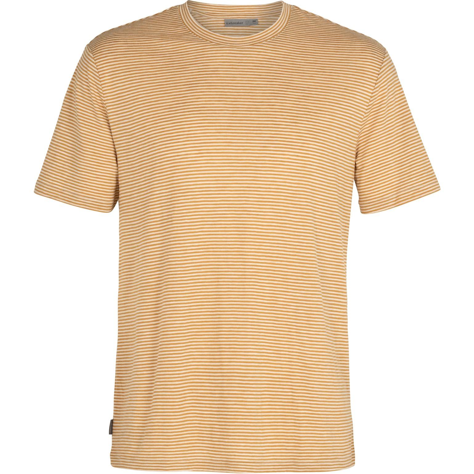 Produktbild von Icebreaker Dowlas Crewe Stripe Herren T-Shirt - Twig