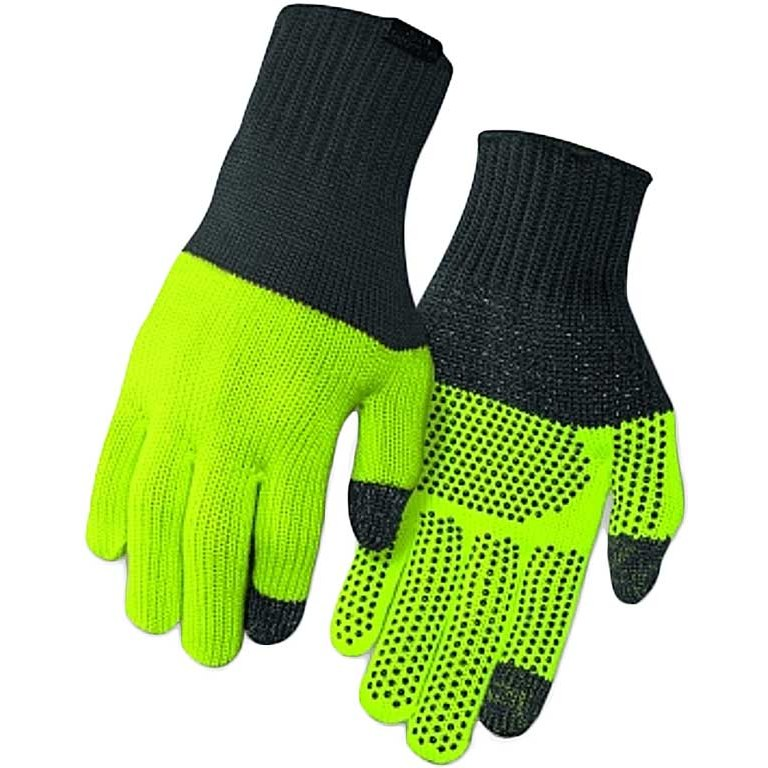 Giro Merino Wool Winter Gloves - grey/wild lime