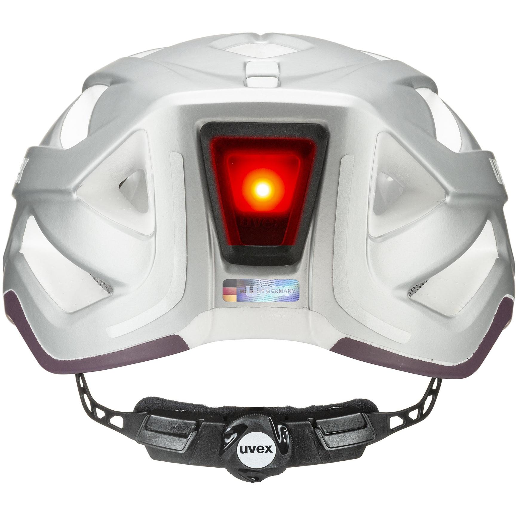 Image of Uvex city active Helmet - silver plum mat
