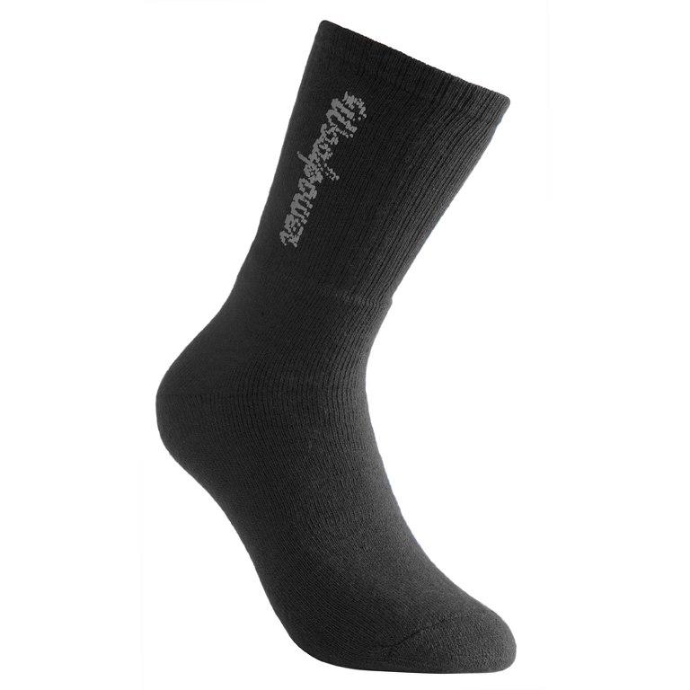 Woolpower Classic LOGO 400 Socken - schwarz